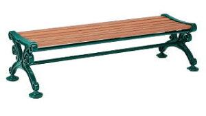 【いまだけポイント10倍】テラモト 木製ベンチ ベンチスワール1800 (背なし) BC-303-218-1