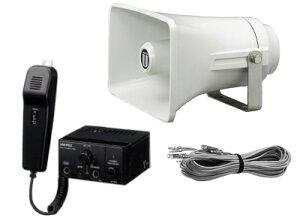 【いまだけポイント10倍】拡声器 車載用 マイク放送アンプ スピーカー ユニペックス NT102-SET