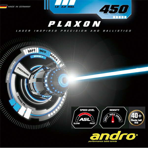 andro(アンドロ) プラクソン450/PLAXON450 112252 卓球ラバー スピードテンション系裏ソフトラバー(テンゾーバイオスSS) 卓球用品【メール便利用可】