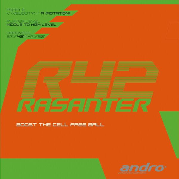 【6月度 月間優良ショップ受賞】【あす楽】アンドロ(andro) 卓球ラバー RASANTER R42 ラザンターR42 ラバー 112287 裏ソフトラバー ラザンター 卓球
