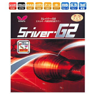 Slaver G2 Butterfly table tennis rubber energy integrated back soft 05550 table tennis equipment * 261121