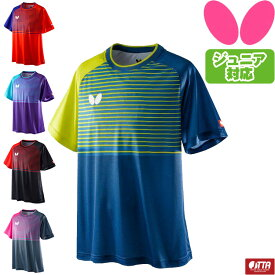 バタフライ BUTTERFLY ラインメトリ・シャツ 卓球 ユニフォーム ゲームシャツ 45630