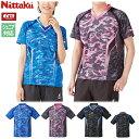 ニッタク Nittaku 卓球ユニフォーム スカイカモフラシャツ ゲームシャツ 男女兼用 メンズ レディース ジュニアサイズ…