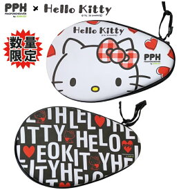 【限定品】HelloKitty×PPHコラボ ハローキティ 卓球ラケットケース Big Face Love Logo 三英 PINGPONGHEAVEN サンリオ