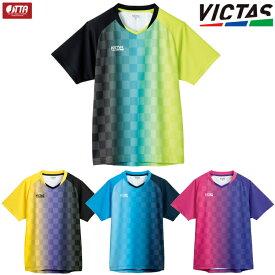 VICTAS PLAY ヴィクタス 卓球ユニフォーム バーティカルグラデーション ゲームシャツ メンズ レディース 612101