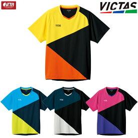 VICTAS PLAY ヴィクタス 卓球ユニフォーム カラーブロック ゲームシャツ メンズ レディース ジュニア対応 612103