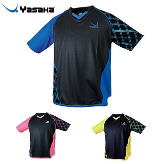 Yasaka Yasaka Mel check uniform Y-234 table tennis uniform man and woman combined use game shirt table tennis article