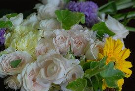 ボックスフラワー【ホワイト】:発表会、記念日、お誕生日、ご自宅