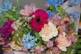 自家用【盛り花・ピンク】フラワーアレンジメント:花束:リビング、お玄関、キッチン、寝室、書斎、子供部屋
