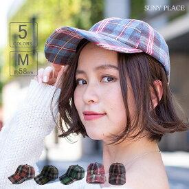 帽子 ウォッシュチェックローキャップ レディース 女性用 秋冬 女子 Mサイズ 58cm シンプル カジュアル ストリート CA3-016