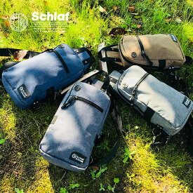Schlaf-シュラフ- SCF-042 杢ポリ使いボディバッグ ウエストポーチ レディース メンズ men's lady's スクエア bag アウトドア