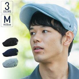 ハンチング 帽子 メンズ レディース UVカット NYC刺繍デニムハンチング VS5-061