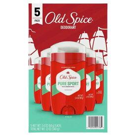 【送料無料】 オールドスパイス ピュアスポーツ デオドラント 68g 5本セット アメリカ製【Old Spice】 Pure Sport Deodorant 3 oz 5 pack
