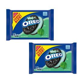 【送料無料】 ナビスコ オレオ ファミリーサイズ ミントクリーム 566g 2個セット【Nabisco】Oreo Family Size Mint Cream 1 lb 2set