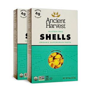 【送料無料】 アンシェントハーベスト キヌアパスタ シェル グルテンフリー 227g 2個セット【Ancient Harvest】Quinoa Pasta Shells Gluten Free 8 oz 2set
