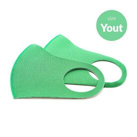 【ドクターアルゲン】 洗える 夏用マスク グリーン 緑色 大人向けMサイズ 2枚入り ミディアム おしゃれ スポーツマスク ポリウレタン 洗濯 【DR.Argen】Antibacterial Face Mask Green Youth Size 2 Count