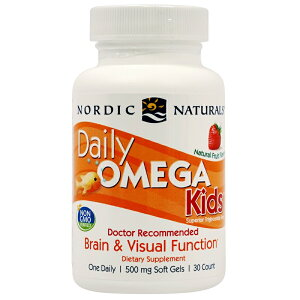 【送料無料】 子供用デイリーオメガ 30ソフトジェル DHA EPA キッズ フィッシュオイル ノルディックナチュラルズ 【Nordic Naturals】Daily Omega Kids 500 30 Chewable Soft Gels