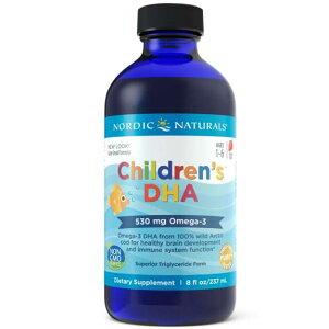 【送料無料】 幼児・子供のためのDHA オメガ3 1〜6歳 530mg含有 イチゴ風味 ドコサヘキサエン酸 フィッシュオイル 魚油 ディーエイチエー 237ml 【Nordic Naturals】 Nordic Naturals Children's DHA 8 fl oz