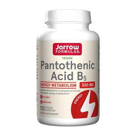 【10%OFF & 最大1000円オフクーポン配布中】 ジャローフォーミュラズ パントテン酸B5 500mg 100粒【Jarrow Formulas】Pantothenic Acid B5, 500 mg, 100 Veggie Caps