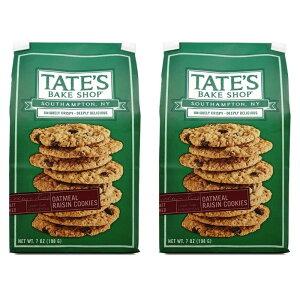 【送料無料】 テイツベイクショップ オールナチュラル オートミール レーズンクッキー 198g 2個セット【TATE'S BAKE SHOP】 All Natural Oatmeal Raisin Cookies 7 oz 2set