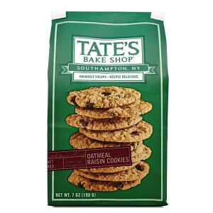 【送料無料】 テイツベイクショップ オールナチュラル オートミール レーズンクッキー 198g【TATE'S BAKE SHOP】 All Natural Oatmeal Raisin Cookies 7 oz
