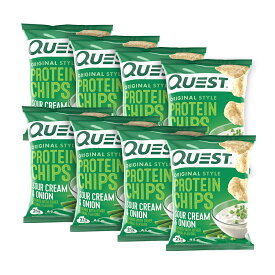 【送料無料】 クエストニュートリション プロテインチップス サワークリーム & オニオン味 8袋入り【Quest Nutrition】Protein Chips Sour Cream & Onion 8 Pack