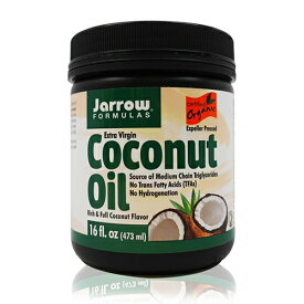 【送料無料】 ジャローフォーミュラズ オーガニック エキストラバージンココナッツオイル 473 ml【Jarrow Formulas】Organic Extra Virgin Coconut Oil 16 oz