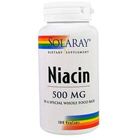 ★送料無料★ソラレー ナイアシン 500mg 100錠べジカプセル【SOLARAY】NIACIN 500mg 100 Veggie Caps