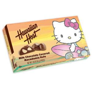 ★送料無料★ハワイアンホースト ハローキティ サーファー ミルクチョコレート マカダミアナッツ 4個入り 41 g【Hawaiian Host Hello】Kitty Surfer Milk Chocolate Covered Macadamia Nuts 1.45 oz