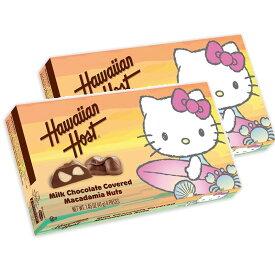 ★送料無料★ハワイアンホースト ハローキティ サーファー ミルクチョコレート マカダミアナッツ 4個入り 41 g 2個セット【Hawaiian Host Hello】Kitty Surfer Milk Chocolate Covered Macadamia Nuts 1.45 oz 2 sets