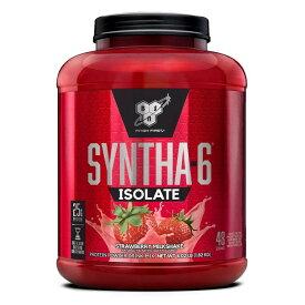 ★送料無料★ビーエスエヌ シンサ-6 アイソレート ストロベリーミルクシェイク 48杯分 1.82 kg【BSN】Syntha-6 Isolate Strawberry Milkshake 4.02 lb