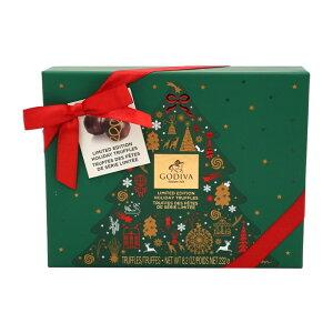 ★送料無料★ゴディバ 12個入り 限定版 ホリデートリュフ ギフトボックス 232 g【GODIVA】Holiday Truffle Gift Box 8.2 oz