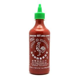 【送料無料 & 8/15限定 ポイント2倍!】 482g シラチャーソース 本家フイフォンフーズ スリラチャソース ホットチリソース ニワトリパッケージ ニワトリマークが目印 タバスコ やみつき 【Huy Fong Foods】Sriracha Hot Chili Sauce 17 oz