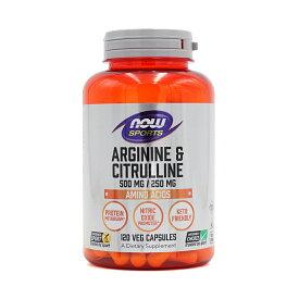 【送料無料】 ナウスポーツ アルギニン500mg&シトルリン250mg 120粒【NOW SPORTS】L-Arginine 500mg & Citrulline 250mg 120CAP