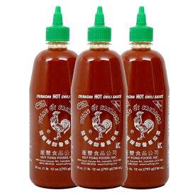 【送料無料】 793g 大容量 シラチャーソース でっかいサイズ 本家フイフォンフーズ スリラチャソース ホットチリソース ニワトリマークが目印 タバスコ やみつき 3本セット 【Huy Fong Foods】Sriracha Hot Chili Sauce 28 oz