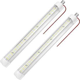 SUPAREE 調光可能 LEDルームランプ 室内灯 つまみスイッチ付き 車内照明 両面テープ付 12V車対応 キャンピング トレーラートラック用 2本セット 一年保証