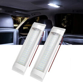 SUPAREE LEDルームランプ 72連 LED室内灯 車内照明 ホワイト DC12V-36V 小型車 キャンピングカー 軽キャンパー トラック 作業車用 LEDライト 2本入り 一年保証