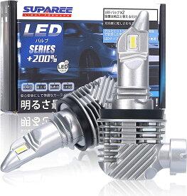 【令和2年最新モデル】SUPAREE H7 H8/H11 HB3/HB4通用 led ヘッドライト 新車検対応 12000LM 40W 12V/24V車対応(ハイブリッド車・EV車対応) ホワイト 6500K イエロー 3000K ファンレス 爆光 フォグランプ LEDバルブ 2個入 3年保証