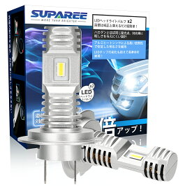 【令和2年最新モデル】SUPAREE H7 led ヘッドライト 新車検対応 12000LM 40W 12V/24V車対応(ハイブリッド車・EV車対応) ホワイト 6000K ファンレス フォグランプ 爆光 2個入 3年保証