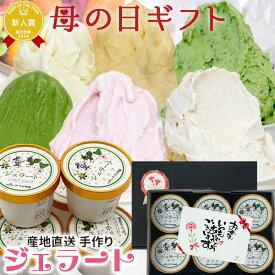 遅れてごめんね 母の日 ギフト プレゼント スイーツ 洋菓子 アイスクリーム ふなっこ畑 手作り ジェラート 詰め合わせ 選べる6個セット 送料無料 アイス お菓子