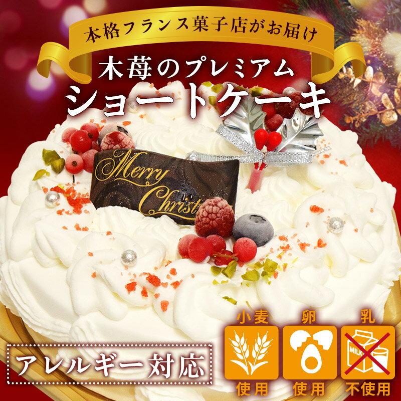 木苺のプレミアムショートケーキ【アレルギー対応】【クリスマスケーキ】【5号】【2017】【予約】