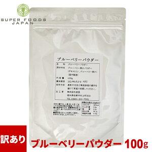 訳あり 在庫処分 食品 ブルーベリーパウダー 100g 粉末 無添加 フルーツ スーパーフード