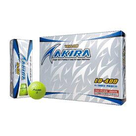 超高反発 AKIRA アキラ LD-400(イエロー) ゴルフボール 1ダース R&A非公認球