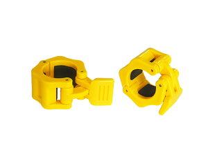 IROTEC(アイロテック)レギュラークイックカラーイエロー2個セット 径28mm専用カラー(留め具)/イージーカラー ダンベル バーベル 筋トレ器具 筋トレ ベンチプレス バーベルシャフト トレ