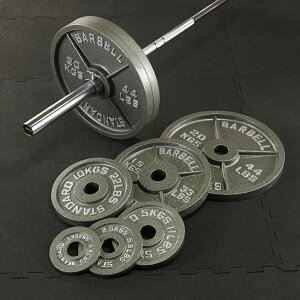 【10日はポイントアップDAY】IROTEC(アイロテック)オリンピックアイアンバーベル184KGセット/バーベルセット ベンチプレス トレーニング器具 筋トレ パワーラック 筋力トレーニング 筋トレ器具