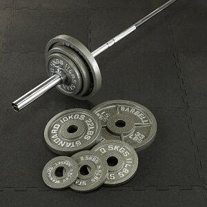 【10日はポイントアップDAY】IROTEC(アイロテック)オリンピックアイアンバーベル104KGセット/バーベルセット ベンチプレス トレーニング器具 筋トレ スクワット 筋力トレーニング パワーラック
