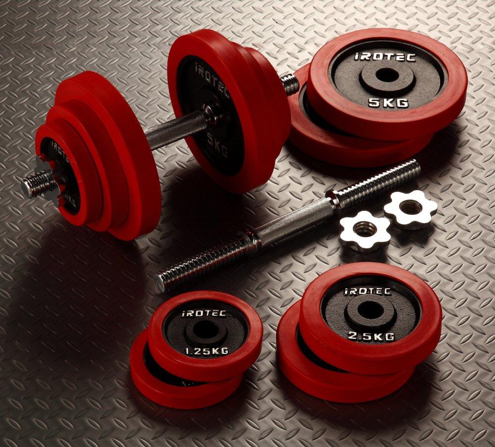 【25日はポイントアップDAY!】IROTEC(アイロテック)ラバーダンベル 40kgセット/ダンベル・バーベル・ベンチプレス・トレーニングマシン・トレーニング器具・ 筋トレ・健康器具・鉄アレイ・ダイエット・フィットネス
