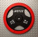 IROTEC(アイロテック)ラバープレート15KG /ダンベル・ベンチプレス・筋トレ・トレーニング器具・トレーニングマシン…