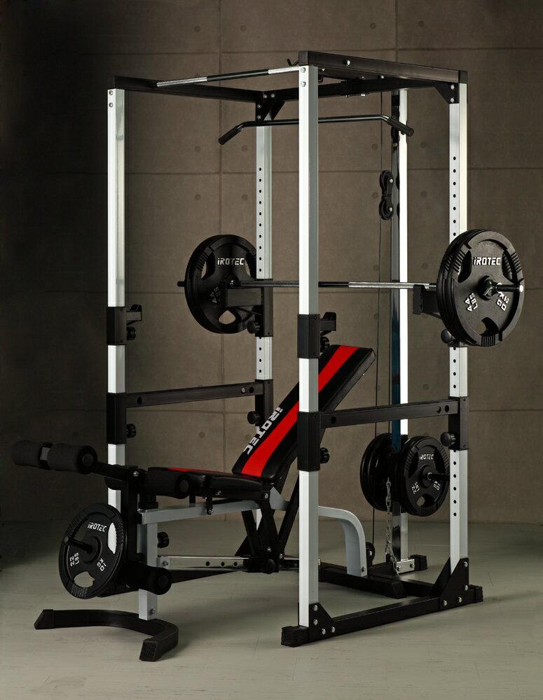 【25日はポイントアップDAY】IROTEC(アイロテック)マスキュラーセット140/パワーラック 筋トレ ダンベル ベンチプレス バーベル マルチジム 懸垂 インクライン ダイエット器具 ホームジム 筋トレ器具 筋力トレーニング