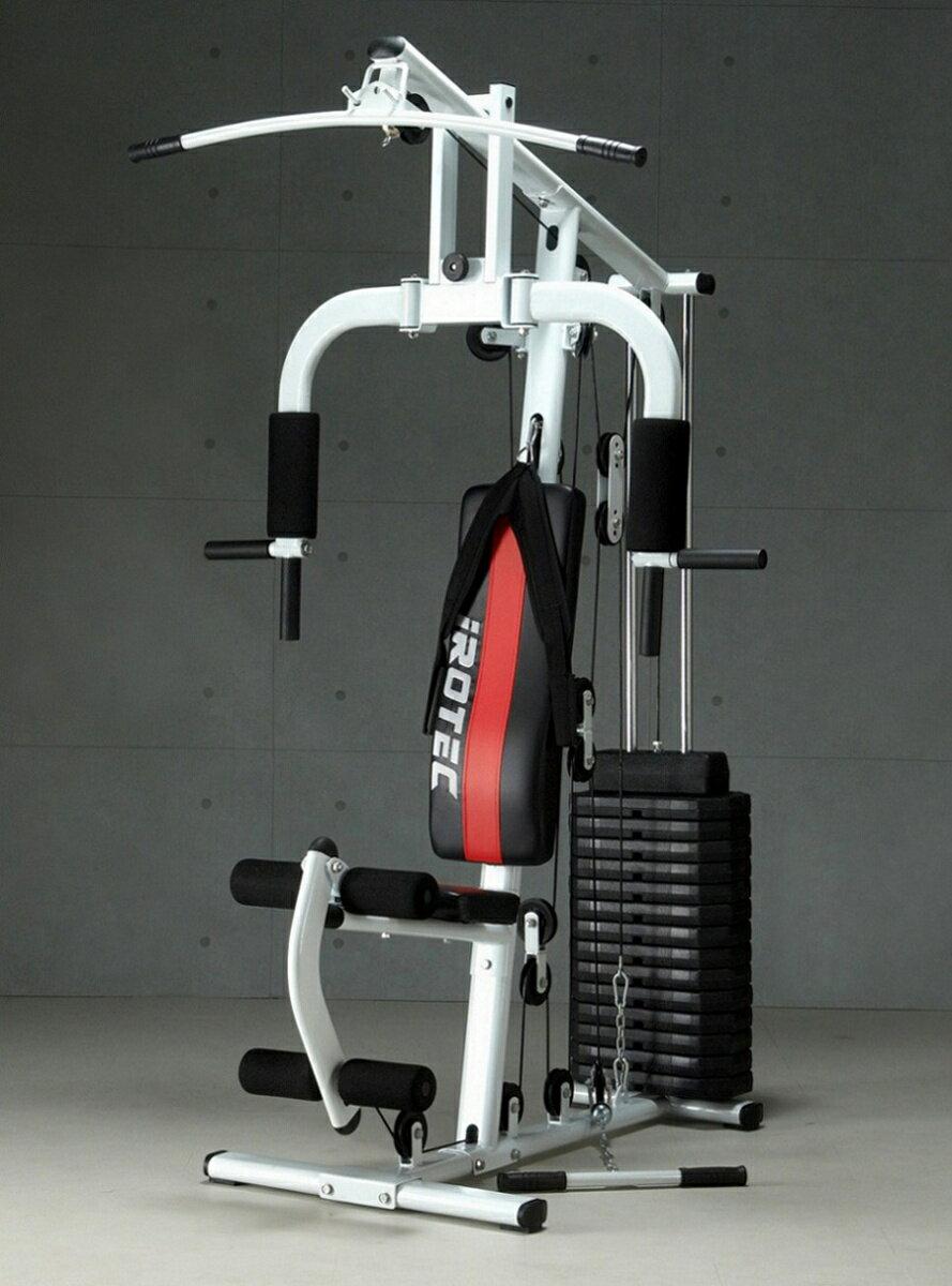 【25日はポイントアップDAY!】IROTEC(アイロテック)マルチホームジム150-V2/筋トレ ダンベル ベンチプレス トレーニングマシン トレーニング器具 マルチジム 健康器具 腹筋 シットアップベンチ ダイエット器具